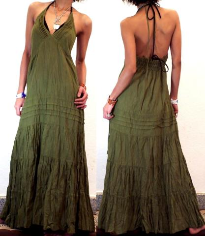 Gypsy Boho Hippy Long Hippie Summer Maxi Dress L81 Image