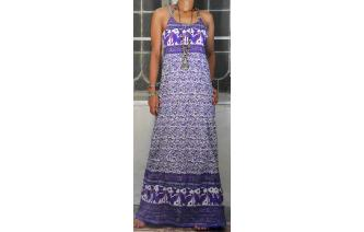 4bc1f00ca Original Vintage 70's ethnic x cross hand block butterfly florals printed  paneled maxi hippie dress. Made from 100% cotton. With U front neck, ...