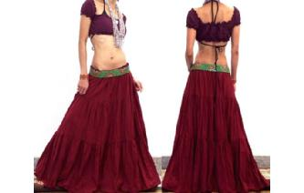 URBAN BOHO TIERED GYPSY HIPPIE SKIRT DRESS UK18 S2 Image