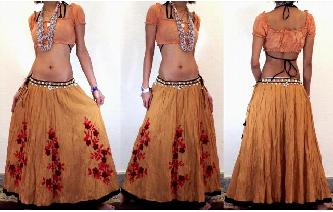 UNIQUE EHTNIC EMBROIDE LONG MEXICAN FULL SKIRT S23 Image