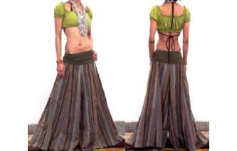 GYPSY 70 CULOTTE HIPSTER HIPPIE PANTS TROUSERS P13 Image