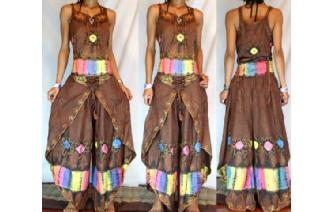 GYPSY BOHO HAREM BELLY DANC PANTS TROUSERS TOP H29 Image