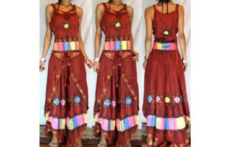GYPSY BOHO HAREM BELLY DANC PANTS TROUSERS TOP H30 Image