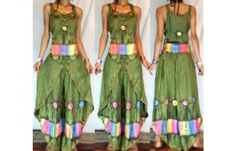 GYPSY BOHO HAREM BELLY DANC PANTS TROUSERS TOP H31 Image