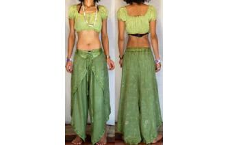 GYPSY BOHO HAREM BELLY DANC PANTS TROUSERS H21 Image