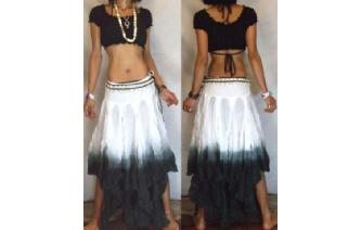 "GYPSY HIPPY BOHO PIXIES 500"" FULL HIPPIE SKIRT F25 Image"