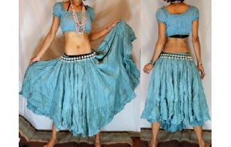 "GYPSY HIPPIE BOHO VERY 400"" CIRCLE HIPPY SKIRT F2 Image"