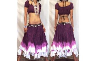 "GYPSY HIPPY BOHO PIXIES 500"" FULL HIPPIE SKIRT F11 Image"