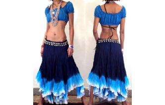 "GYPSY HIPPY BOHO PIXIES 500"" FULL HIPPIE SKIRT F16 Image"