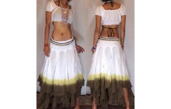 "GYPSY HIPPY BOHO PIXIES 500"" FULL HIPPIE SKIRT F20 Image"