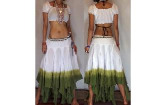 "GYPSY HIPPY BOHO PIXIES 500"" FULL HIPPIE SKIRT F21 Image"