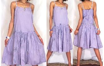 BOHO Vtg 50'S BABYDOLL BELT PARTY DAY DRESS A18 Image