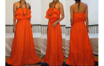 GYPSY BOHO ETHNIC RUFFLED HIPPIE MAXI DRESS 081 Image