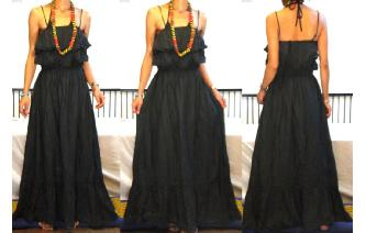 GYPSY BOHO ETHNIC RUFFLED HIPPIE MAXI DRESS 083 Image