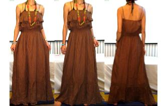 GYPSY BOHO ETHNIC RUFFLED HIPPIE MAXI DRESS 084 Image