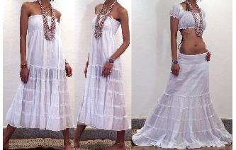 BOHO GYPSY STRAPLESS HIPPIE DAY PARTY DRESS O1 Image