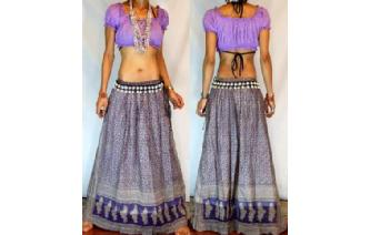 ETHNIC HIPPIE BOHO GYPSY LONG LENGTH SKIRT J19 Image