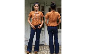 VTG ETHNIC EMBROIDERED SHIRT BOHEMIAN NBLBLOUSE Image