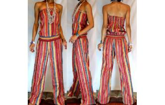 ETHNIC NEW STRIPED STRAPLESS JUMPSUIT PLAYSUIT JS1 Image