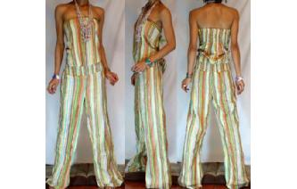 ETHNIC NEW STRIPED STRAPLESS JUMPSUIT PLAYSUIT JS5 Image