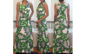VINTAGE 70'S HAWAII SURFING BOHO HIPPIE MAXI DRESS Image