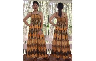 ETHNIC VTG GEOMETRIC PRINTED BOHO MAXI SUN DRESS Image