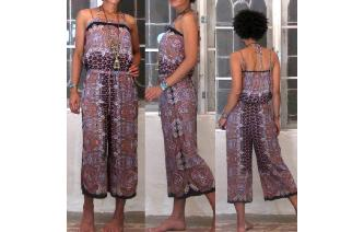 ETHNIC VINTAGE BOHO PSYCHEDELIC HIPPIE JUMPSUIT Image