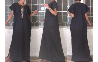 GOTHIC VINTAGE EGYPTIAN KAFTAN HIPPIE MAXI DRESS Image