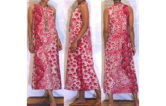 VINTAGE 70'S EHTNIC HAWAIIAN HIPPIE MAXI DRESS Image