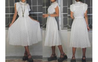 VINTAGE GUNNE SAX SAN FANCISCO BOHO SHEERS DRESS Image