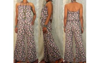 VINTAGE FLORALS PAISLEY HIPPIE DOLLY MIDI DRESS Image