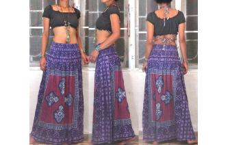 ETHNIC VTG GEOMETRIC BOHO MAXI HIPPIE SKIRT/DRESS Image