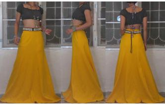 VTG 70'S PANELED HIPPY HIGH WAIST MAXI SKRT TALL Image