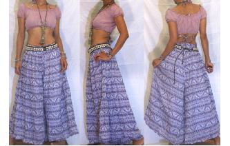 ETHNIC VINTAGE INDIAN GAUZE HIPPIE PANTS TROUSEERS Image