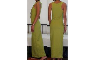 NEW STRETCHY SPORTY MAXI MAXI DRESS A Image