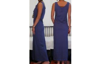NEW STRETCHY SPORTY MAXI MAXI DRESS D Image
