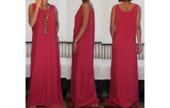 NEW STRETCHY SPORTY MAXI MAXI DRESS G Image