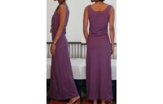 NEW STRETCHY SPORTY MAXI MAXI DRESS L Image