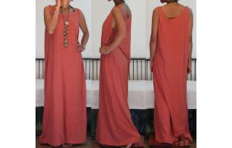 NEW STRETCHY SPORTY MAXI MAXI DRESS M Image