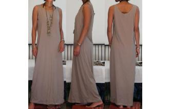 NEW STRETCHY SPORTY MAXI MAXI DRESS N Image